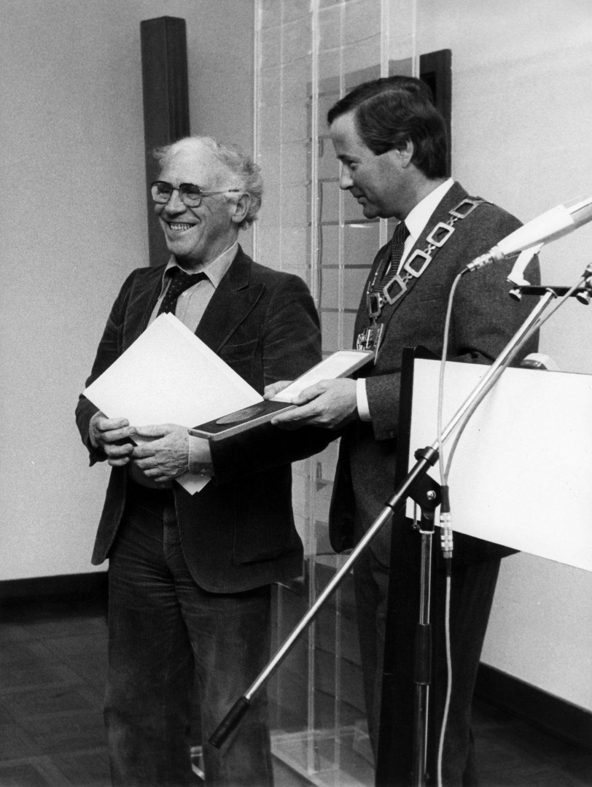Adolf Luther und Oberbürgermeister Dieter Pützhofen
